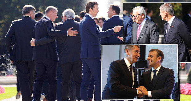 Babiš se objímal s Junckerem a culil na Macrona. Lídři EU mají recept na migraci