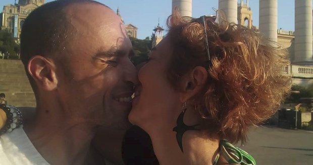 Simona Babčáková a její partner Jan Adensam na romantické dovolené