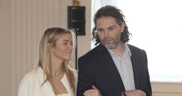 Jaromír Jágr s Veronikou Kopřivovou