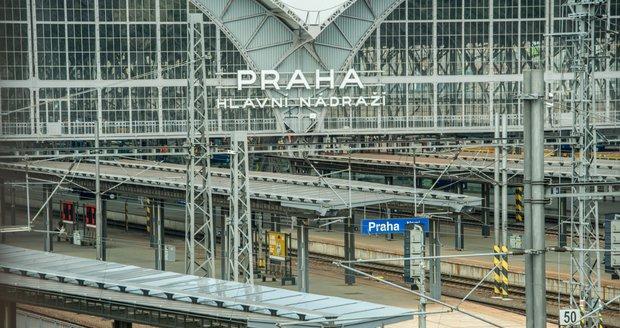 Hlavní nádraží v Praze.