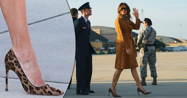 Melania odešla od Trumpa. Na jehlách s leopardím vzorem letěla do Afriky na týden