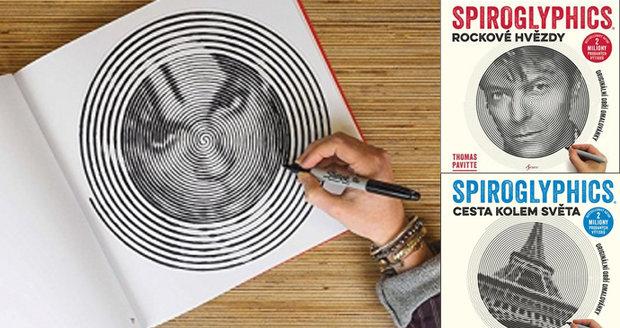 Recenze: Spiroglyphics jsou nové omalovánky pro dospělé: Z čar vykukuje David Bowie nebo Eiffelovka