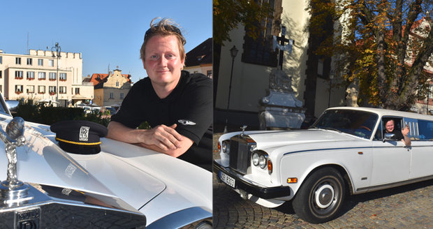 Milan Koubek (33) z Tábora vlastní raritu: Má šestikolový Rolls-Royce!