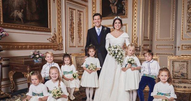 Oficiální fotografie ze svatby princezny Eugenie