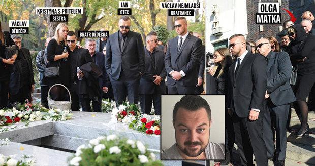 Pohřeb Jana Kočky ml. (†28): Matka Olga nad hrobem chyběla!