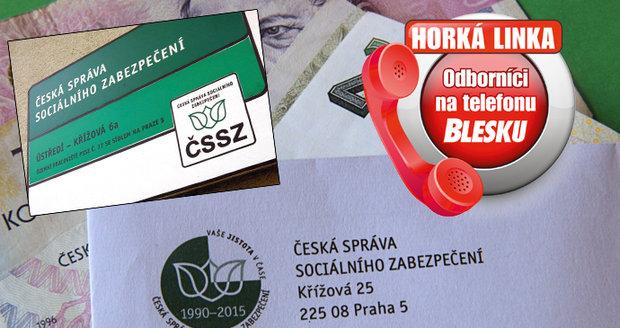 Na Horké lince nově odborníci z České správy sociálního zabezpečení