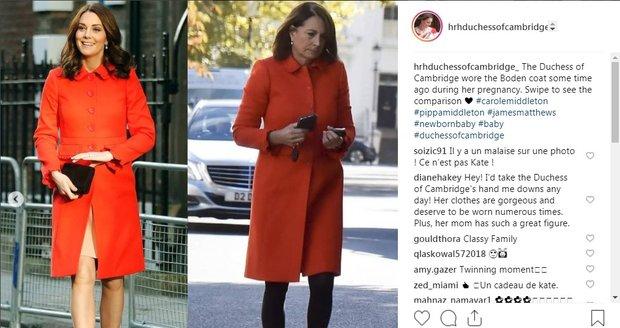 Carole a Kate - stejný kabát?