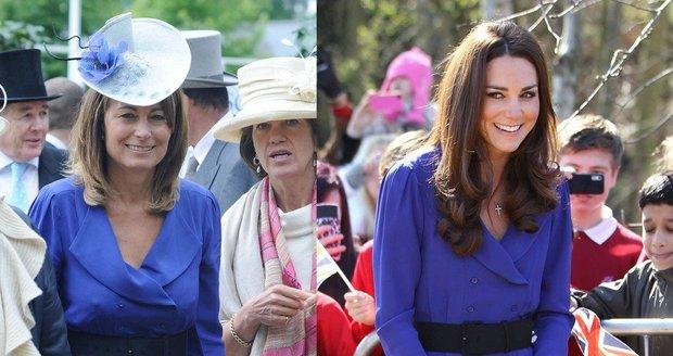 Carole Middleton a Kate se oblékaly stejně už před lety...