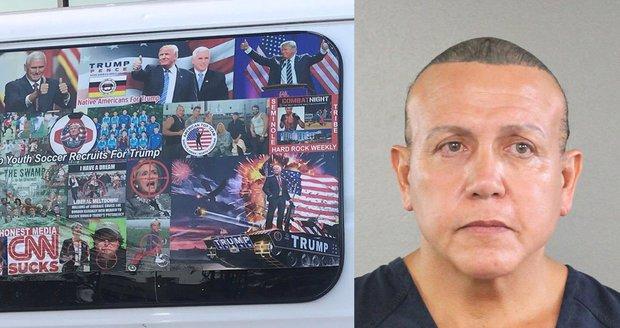 Za bomby pro kritiky Trumpa může útočník dostat až 48 let. Dopadli ho díky DNA