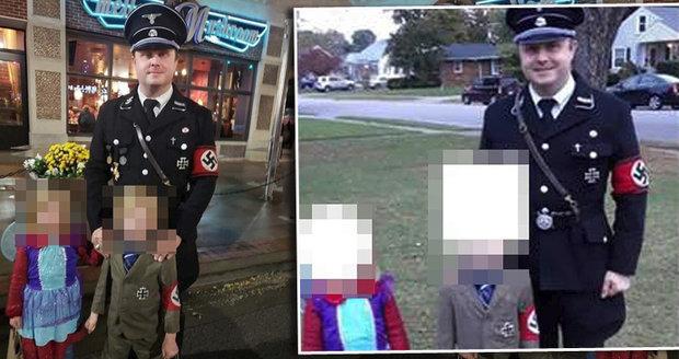 Otec oblékl syna jako Hitlera a sám šel za nacistu o Halloweenu. Lidé mu vyhrožují smrtí