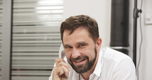 MUDr. Štěpán Machač v redakci Blesku