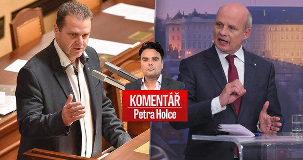 """Komentář: Poslanci podrželi komunistickou """"mlátičku"""" Ondráčka. Právem, bohužel"""