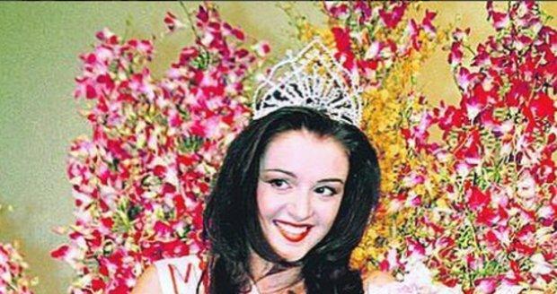 Iva Kubelková v roce 1996, kdy se stala Vicemiss ČR.