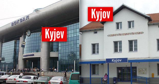 Mladík si koupil špatný lístek a místo do ukrajinského Kyjeva přijel do jihomoravského Kyjova.