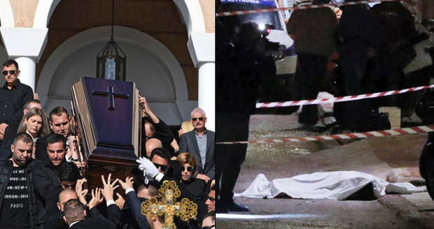 Pohřeb popraveného mafiánského bosse: Playmate museli podpírat, rodina zakázala výzdobu