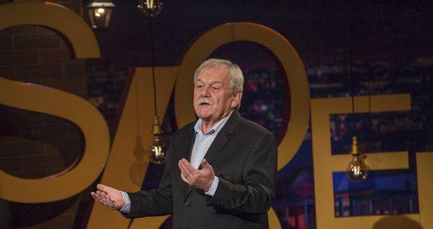 Moderátor Karel Šíp v jeho pořadu Všechnopárty
