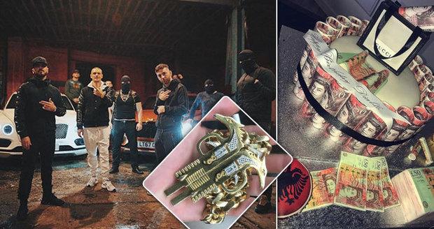 Drogoví lordi se chlubí svým bohatstvím na Instagramu: Balíky peněz, drahá auta, zlaté řetězy