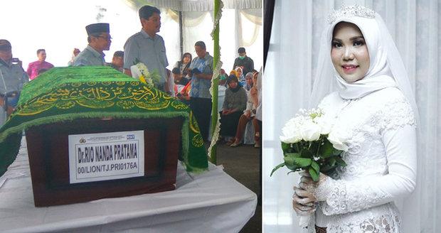 Rio se 14 dnů před svatbou zabil při pádu boeingu, snoubenka mu splnila tohle poslední přání