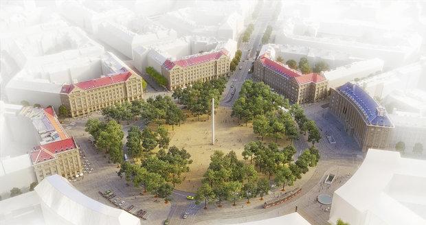 Vítězný návrh na rekonstrukci Vítězného náměstí.