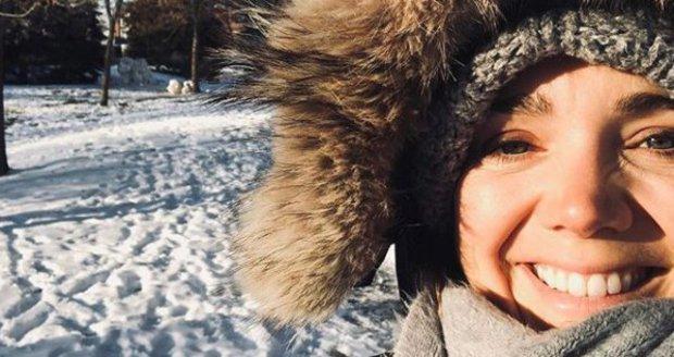 Lucie Vondráčková přivítala první sníh v Kanadě.