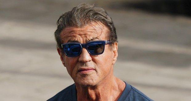 Sylvester Stallone na natáčecím place