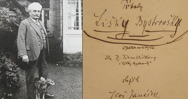 Jen dnes a zítra: Janáčkův památník vystavil originály opery Lišky Bystroušky