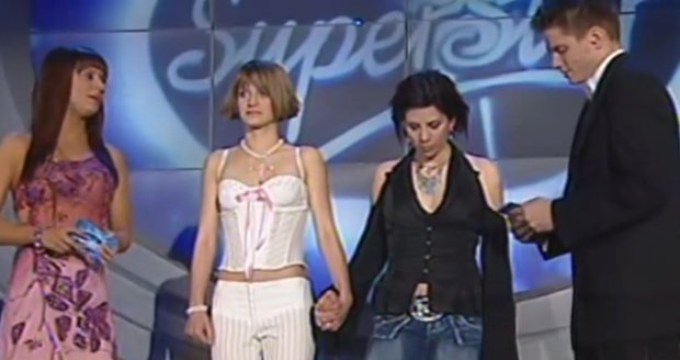 Finále první SuperStar mezi Anetou Langerovou a Šárkou Vaňkovou