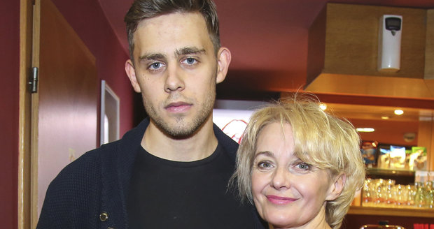Vincent Navrátil s maminkou Veronikou Žilkovou