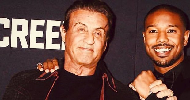 Sylvester Stallone a Michael B. Jordan.