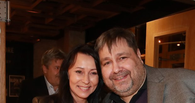 Luboš Xaver Veselý s Heidi Janků