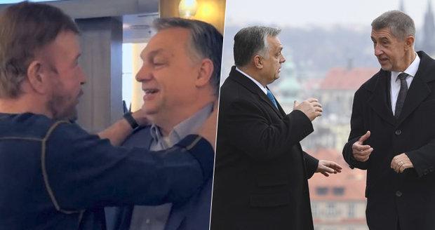 """""""Diktátor"""" Orbán pózoval s Chuckem Norrisem. S Babišem pak řešil obranu, se Zemanem jádro"""