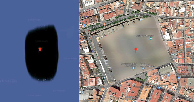 10 míst, která na mapách od Google nenajdete.