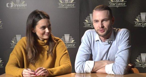 Daniela Písařovicová se svým tanečním partnerem Michalem Mládkem