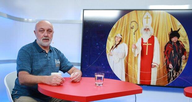 Psychoterapeut Miloslav Čedík, který byl hostem pořadu Epicentrum na Blesk TV (5.12.2018).
