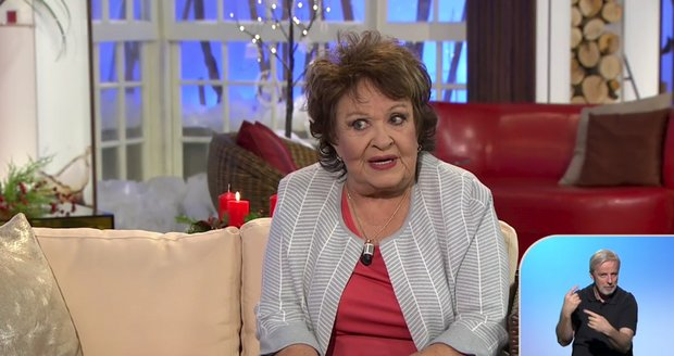Jiřina Bohdalová v pořadu Sama Doma