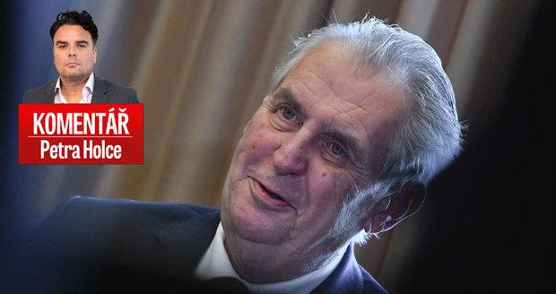 """Komentář: Špioni a """"čučkař"""" Zeman. Z prezidenta se stává ruský car"""