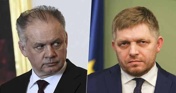 Prezident Kiska byl na výslechu. S policií mluvil o zastrašování expremiérem Ficem