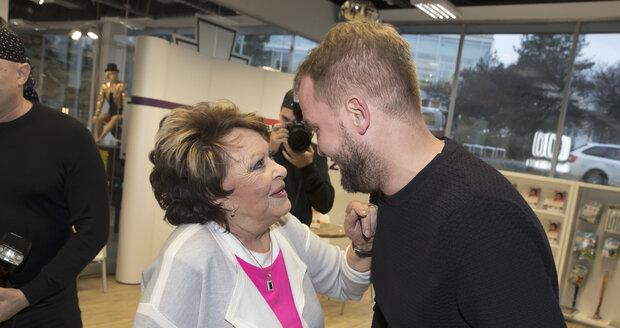 Jiřina Bohdalová a Libor Bouček