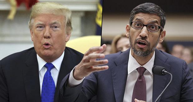 """Slovo """"idiot"""" ukáže Trumpa. Šéf Googlu vysvětlil, proč to vyhledávač dělá"""