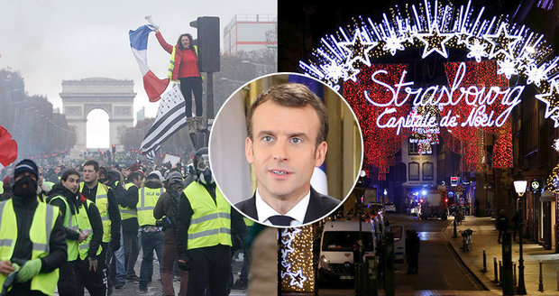 """Konspirátoři útočí na Macrona: Útok ve Štrasburku byl plán, jak """"umlčet"""" žluté vesty"""