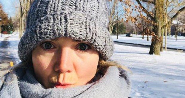 Lucie Vondráčková v Kanadě.