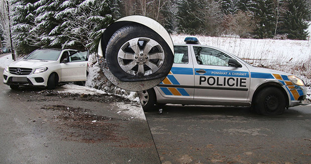 Cizinec (28) kradeným mercedesem najížděl do policistů! Na útěku ho dopadl pes Chucky