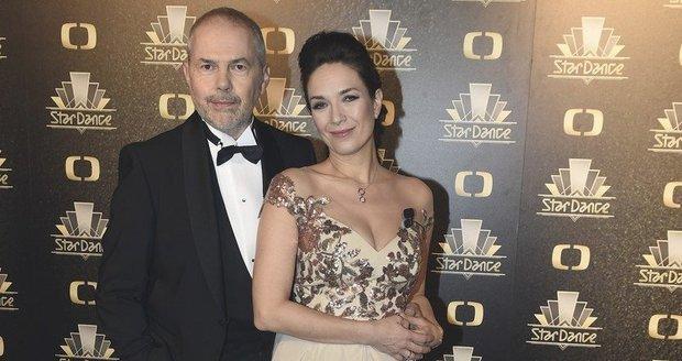 Moderátoři Tereza Kostková a Marek Eben před finálovým večerem StarDance