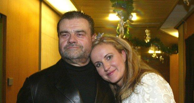 S druhou manželkou Vendulou.