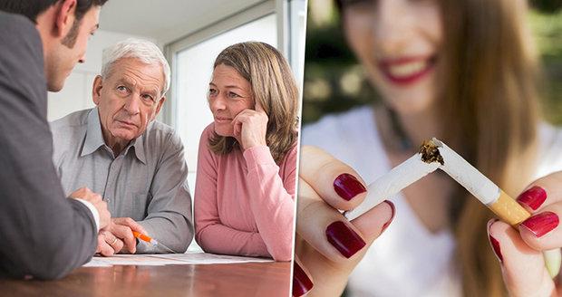 Žena mi dává kouření