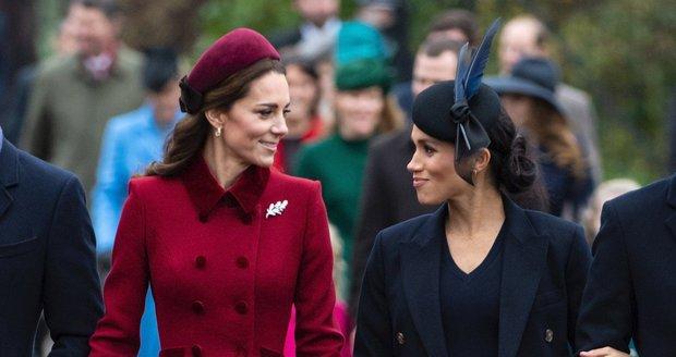 Vévodkyně Kate a vévodkyně Meghan v Sandringhamu