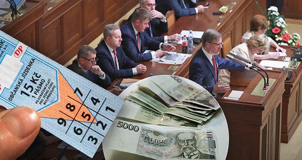 Rok 2019: Politikům porostou platy, jízdenkám se sníží DPH a skončí poukázky