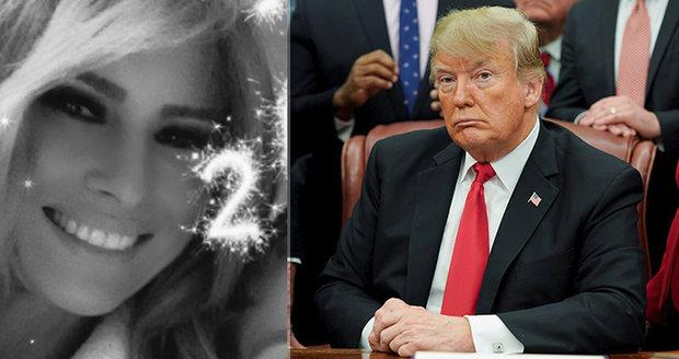 Melania na třpytivém selfie. První dáma si bez Trumpa užívala na novoroční party