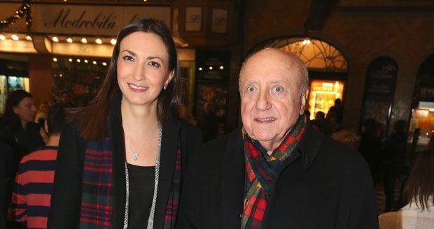 Felix Slováček s Luckou Gelemovou na premiéře filmu