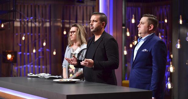 Porota třetí řady Masterchef Česko Přemysl Forejt, Radek Kašpárek a Jan Punčochář.